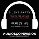 Location Pack Silent Party Disco 50 personnes, émetteur 10 canaux Aix en Provence