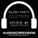 Location Pack Silent Party Disco 100 personnes, émetteur 10 canaux Aix en Provence