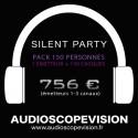 Location Pack Silent Party Disco 150 personnes, émetteur 3 canaux Aix en Provence
