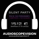 Location Pack Silent Party Disco 150 personnes, émetteur 10 canaux Aix en Provence