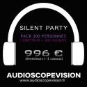 Location Pack Silent Party Disco 200 personnes, émetteur 3 canaux Aix en Provence