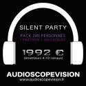 Location Pack Silent Party Disco 200 personnes, émetteur 10 canaux Aix en Provence