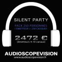 Location Pack Silent Party Disco 250 personnes, émetteur 10 canaux Aix en Provence