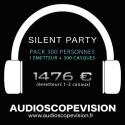 Location Pack Silent Party Disco 300 personnes, émetteur 3 canaux Aix en Provence