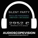 Location Pack Silent Party Disco 300 personnes, émetteur 10 canaux Aix en Provence