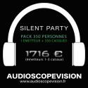 Location Pack Silent Party Disco 350 personnes, émetteur 3 canaux Aix en Provence