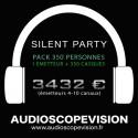 Location Pack Silent Party Disco 350 personnes, émetteur 10 canaux Aix en Provence