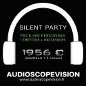 Location Pack Silent Party Disco 400 personnes, émetteur 3 canaux Aix en Provence
