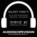 Location Pack Silent Party Disco 400 personnes, émetteur 10 canaux Aix en Provence