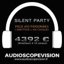 Location Pack Silent Party Disco 450 personnes, émetteur 10 canaux Aix en Provence