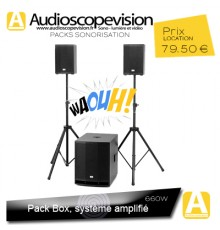 Location Pack Box 660W Rms 1200W Music