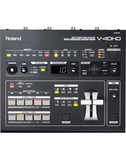 Location Roland V40HD régie de mixage vidéo régie vidéo console de mixage vidéo professionnelle mélangeur switcher vidéo Aix en