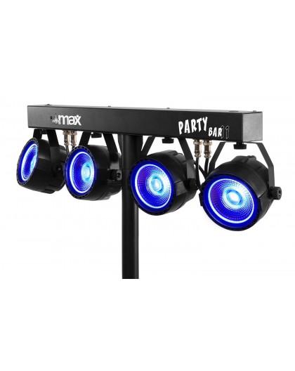 Location set complet de 4 projecteurs Leds avec pied jeu de lumière barre équipée de par led COB 20W pour soirée Aix en Provenc